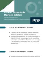 Aula 03 - Alocação de memoria estatica