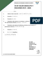 EXAMEN DE VALOR ABSOLUTO Y OPERACIONES EN R 2020