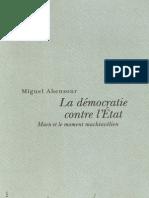 Abensour, La démocratie contre l'Etat