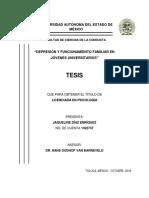 """TESIS - """"DEPRESIÓN Y FUNCIONAMIENTO FAMILIAR EN JÓVENES UNIVERSITARIOS"""" - JAQUELINE DIAZ ENRIQUEZ"""