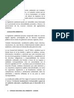 Legislacion Ambiental en el Peru