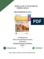 CUADERNILLO DE PRIMER GRADO TERCER TRIMESTRE 2020