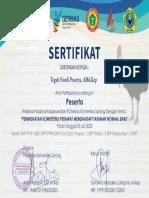Sorong Teguh Nurdi Prasetya, AMd.Kep E-SERTIFIKAT