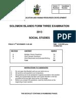 F3 Soc Stud Exam 2013