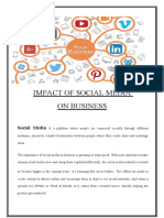 SOCIAL MEDIA ON BUSINESS TODAY