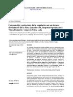 """Composición y estructura de la vegetación en un sistema silvopastoril de la Finca Ganadera 16, Empresa Agropecuaria """"Ruta Invasora"""", Ciego de Ávila, Cuba"""
