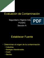 Evaluación de Contaminación