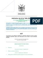 ARBITRATION (1965) - Arbitration Act 42 of 1965 (annotated)