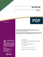 NF EN 558 Flanged Valves