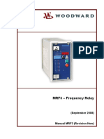 Frequency relay MRF3 81