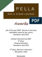 Award Winning Cocktails - Breidenbacher Hof, Dusseldorf Germany