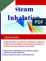 steam inhalation and specimen collection