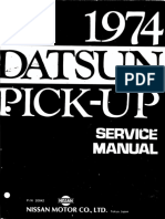 Pick Up Datsun 620 Service Manual