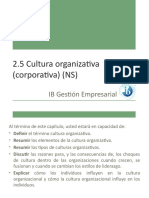 2.5 Cultura organizativa (corporativa) (NS) (1)