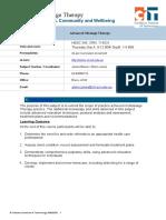 Adv Mass Therapy2010 Module Document