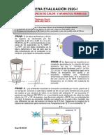 PRIMER PARCIAL TRANSFERENCIA DE CALOR-2020-I
