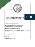 Programa Pensamiento Argentino y Latinoamericano- MazzolaVasquez 2020-1