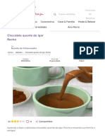 receita Chocolate quente do Igor Rocha
