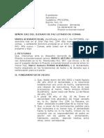 DEMANDA DE FILIACION EXTRAMATRIMONIAL ALVARADO