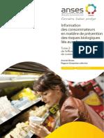 Information des consommateurs en matière de prévention des risques biologiques liés aux aliments
