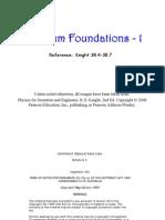 Quantum Foundations1