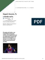 Barcelona vs Napoli. Horario, Tv y donde verlo. - Depor... en Taringa!