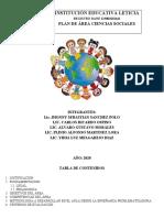 PLAN DE ÁREA CIENCIAS SOCIALES I.E LETICIA 2020