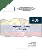 SEGURIDAD INDUSTRIAL EN VENEZUELA