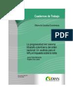 La progresividad del sistema tributario colombiano del orden nacional_Un análisis para el IVA y el impuesto sobre la renta