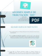 REGIMEN SIMPLE DE TRIBUTACIÓN ´´RST´´