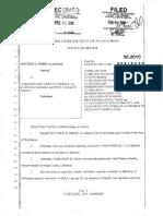 Narconon Sued Again. Fisher v Narconon Southern California, et al - 2010 Complaint