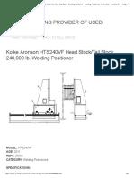 Koike Aronson HTS240VF Head Stock_Tail Stock 240,000 lb. Welding Positioner - Welding Positioners Ref# 25066 - #25066 (i) - Prestige Equipment
