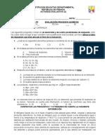 Evaluación química séptimo