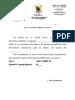 Modele Attestation de travail rendu DS  T1