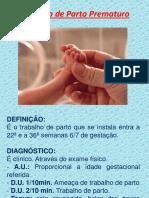 RESUMO TRABALHO DE PARTO PREMATURO(TPP)