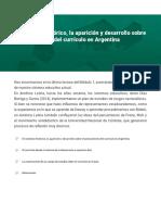 El contexto histórico, la aparición y desarrollo sobre el pensamiento del currículo en Argentina