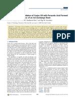 Cinética de la epoxidación del aceite de ricino con ácido peracético formado in situ en presencia de una resina de intercambio iónico