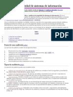 Auditoría de seguridad de sistemas de información