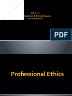 GE-112 P&EI Week 2 Professional Ethics