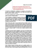 Orientaciones políticas del Comandante Hugo Chávez en la rendición de memoria y cuenta en la Asamblea Nacional