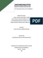 ACTIVIDAD 3 - INFORME SOBRE EL PROCESO DE DIAGNOSTICO ORGANIZACIONAL DE UNA EMPRESA