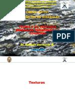 Teoria 3. Texturas minerales, paragenesis y zonacion