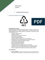INFORME TIPOS DE PLASTICOS
