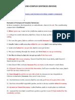 compound-complex sentences - review