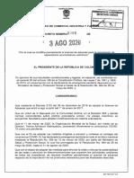 DECRETO 1086 DEL 3 DE AGOSTO DE 2020