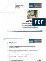 1. Módulo 9. Invetigación de Incidentes, Accidentes y Enfermedades Ocupacionales. Clase 1.