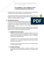 ESTUDIO DE IMPACTO AMBIENTAL Y SOCIAL SEMIDETALLADO DE BOTADERO CONTROLADO MUNICIPALIDAD DE PAMPACOLCA