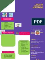 FOLLETO ROLES DE DOCENTES Y ESTUDIANTES