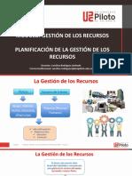 Planificar la Gestión de los Recursos Tutoria 1