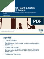 Presentación Comm Day Febrero 5, OHSAS 18K, Cd. Juárez